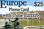Europe Phone Card with Time Limit