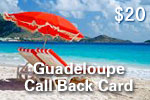 Guadeloupe Call Back Card