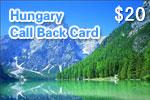 Hungary Call Back Card