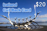 Iceland Call Back Card