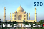 India Call Back Card