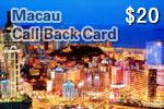 Macau Call Back Card