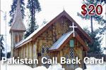 Pakistan Call Back Card