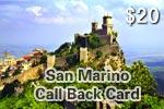 San Marino Call Back Card