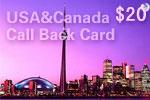 USA & Canada Call Back Card
