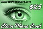 Clear Phone Card
