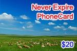 Never Expire Phone Card