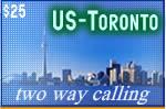 USA - Toronto Two Way Card