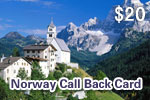 Norway Call Back Card