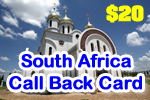 South Africa Call Back Card