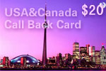 USA & Canada Call Back Card