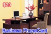 Business Phone Card, Diego Garcia calling cards