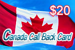 Canada Call Back Card