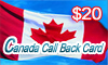 Canada Call Back Card, Afghanistan calling cards