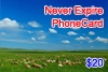 Click to see detailed information for  Never Expire Phone Card